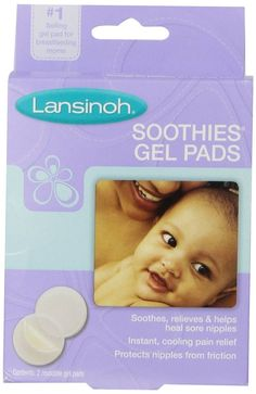(2) Lansinoh Soothies Gel Pads Reusable For Soothing Sore Nipples 2 Count NEW