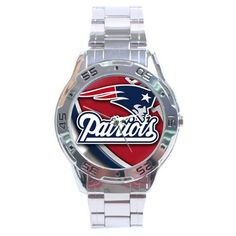 new new England #Patriots Sexy #NFL Analog Watch Stainless Steel from $19.99
