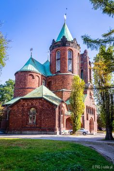 The St. Jacob (Immaculate Conception of the Blessed Virgin Mary) church viewed from it's back, Warsaw, Poland