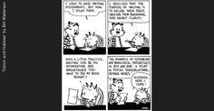 Calvin and Hobbes Cartoon Essay Writing