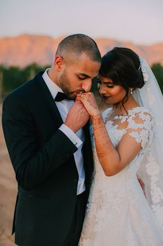 This beautiful romantic moment between the couple during their portrait session. Romantic Moments, Beautiful Moments, Wedding Couples, Muslim, Wedding Venues, Glamour, Indian, Bride, Portrait