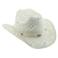 5cd89f6ae85 Straw Cowboy Hat for Women with Shapeable Brim  19.95 (43% OFF) White Cowboy