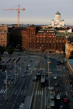 Helsinki, summer 2010 - photo taken from Loiste rooftop bar.      What a beautiful city <3