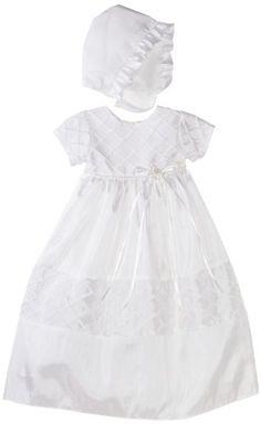 Lauren Madison Baby-Girls Newborn Taffeta Dress, White, 6-9 Months $99.99