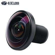 4K LENS 1.21MM Lens IR Fisheye 220D 1/2.3 Inch 16MP S Mount  for 360 View Gopro Camera VR Free Shipping Hot