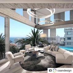 Perfect Modern Living Room Decor Ideas — Home Design Ideas Luxury Rooms, Luxury Home Decor, Luxury Apartments, Luxury Living, Small Loft Apartments, Luxury Condo, Luxury Hotels, Home Design, Best Interior Design