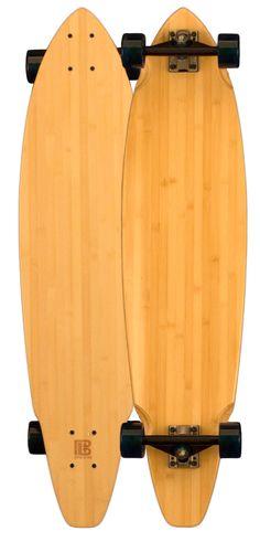 Bamboo Square Tail Blank Longboard