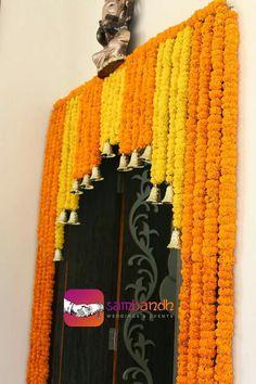 Gate flower decoration for mehendi function sambandh Art Deco Wedding Decor, Desi Wedding Decor, Church Wedding Decorations, Diwali Decorations, Festival Decorations, Flower Decorations, Wedding Church, Wedding Ideas, Aisle Decorations