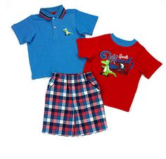 Cute Baby Boy Outfits, Little Boy Outfits, Cool Outfits, Short Set, Little Man, 3 Piece, Cute Babies, Polo Ralph Lauren, Check