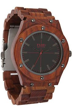 The Konstruct Watch in Colonial Maple by Flud Watches