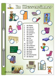 Im Klassenzimmer_Bilder & Wörter