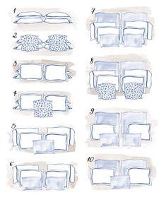 Aprenda a organizar os travesseiros da sua cama de casal Home Bedroom, Bedroom Decor, Bedrooms, Arranging Bedroom Furniture, Bedding Master Bedroom, Furniture Arrangement, Bed Styling, Interior Design Tips, Interior Inspiration