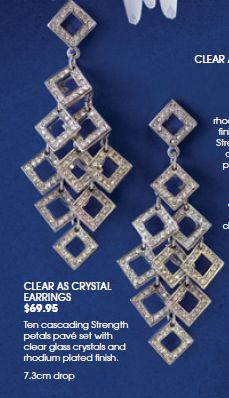 Crystal as Clear earrings