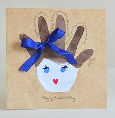 HANDPRINT CARDS for Mothers Day from Willowday