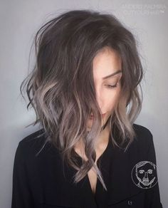 Image result for brown balayage shag
