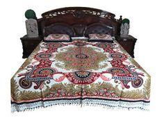 Queen Size Indian Bedding Bedcover