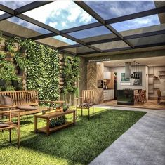 Let's be honest, you probably spend a lot of time at your desk doing things that might not be that fun . Terrace Garden Design, Patio Design, Backyard Patio, Backyard Landscaping, Terrasse Design, Pergola, Outdoor Living, Outdoor Decor, Creative Studio