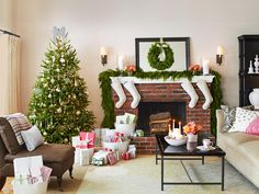 Mix trendy with traditional. Classic silver and gold ornaments and beaded garland complement a trendy monogram topper on this chic, simple tree. See more of this home from HGTV Magazine.