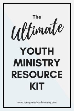 Our Ultimate Youth Ministry Resource Kit is full of insanely useful resources we've used to build a rockin' youth ministry from scratch! From books and blogs to social media and graphic design. Tansquared Youth Ministry