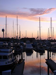 Ventura Marina sunset