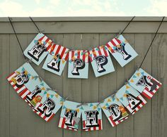 Our Cute Circus Birthday Banner
