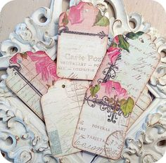 LAST SET  Shabby Cottage Tags or Labels  by LittlePaperFarmhouse, $3.50