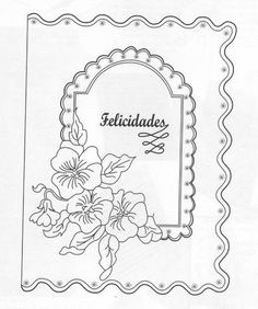 "pattren to print and trace to make card emboss on vellum: ""Mis Manualidades en Tarjetería Española""   visit me at My Personal blog: http://stampingwithbibiana.blogspot.com/"