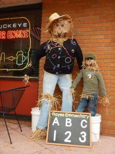 Scarecrows Popping Up Along Madison Avenue in Lakewood