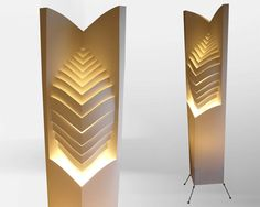 Floor lamp/ Night lamp/ Leaf/ Paper lamp/ Free Shipping/ 3d shape/ Laminated paper/ Leaf art/ Origami design/ Art// Futuristic lampshade.