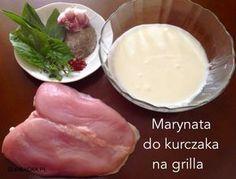 marynata do kurczaka na grilla Grilling, Food And Drink, Pudding, Cooking, Healthy, Ethnic Recipes, Desserts, Impreza, Kitchen