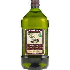 Kirkland Signature Organic Extra Virgin Olive Oil, 2 L Organic Extra Virgin Olive Oil 2 Liter Plastic Bottle First Cold Pressed USDA Organic Kosher Costco Business, Olive Oil Benefits, Refined Oil, Organic Oil, Costco Organic, Health Benefits, Refrigerator, Healthy Habits