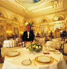Louis XV Restaurant inside the Hotel de Paris, Chef Alain Ducasse