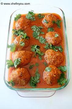 Baked kofta (soy-balls) #vegan