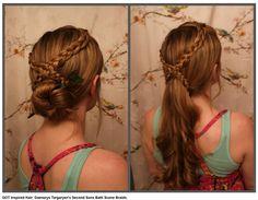 "Game of Thrones inspired hair - Daenerys Targaryen, Season 3, ""Second Sons"" bath scene"