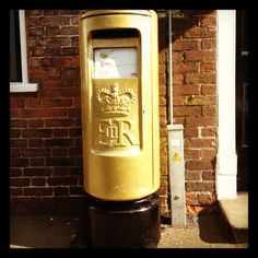 Golden Postbox. Team GB in little lovely Newent