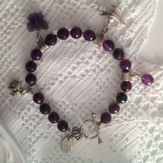bracelet with charms di Reglecreations su Etsy