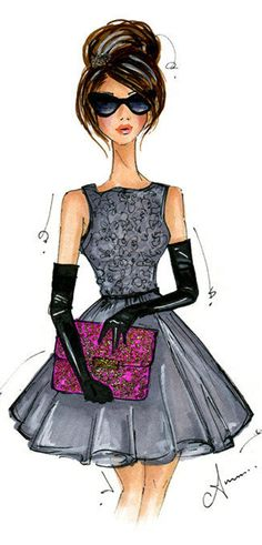 fashion illustration by Anum Tariq