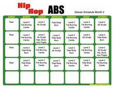Hip Hop Abs Deluxe Sced month 2