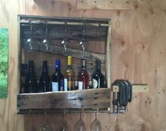 Beam Wine Rack Rustic Wine Rack Father's Day by JNMRusticDesigns