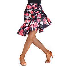 Latin Dance Bottoms Women's Training Spandex Velvet Pattern / Print Natural Skirt 2018 - $29.99