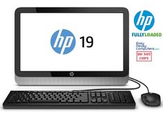 """HP All in One Desktop Computer 19.5"""" Windows 10 4GB 500GB Webcam (FULLY LOADED) #HP #computer #computers"""