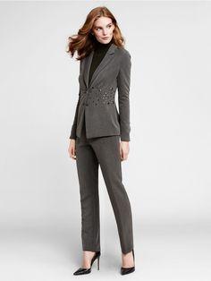 #WbyWorth #StyleGetsSocial #Winter2015 #Turtleneck #Grommet #Detail #Suit