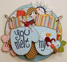 amazing gate fold - You melt my heart!  Cute sentiment!