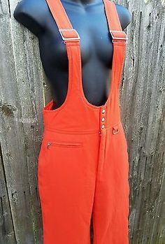 Bogner-Ski-Snowsuit-Overalls-Sz-10-Orange-Hunting-Lined-Snow-Pants-NWOT-Winter