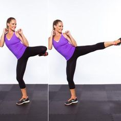 Roundhouse Drill - 20 Ways to Make Your 20 Favorite Exercises More Effective - Shape Magazine