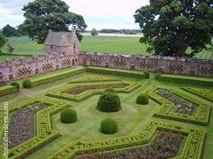 Edzell Castle Gardens in Scotland
