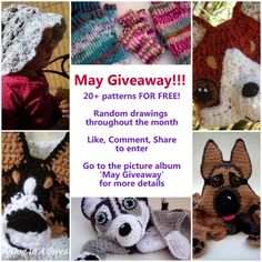 A Dog In A Sweater and Love/Hat Relationship are having a HUGE pattern giveaway and Ravelry sale for the month of May! Don't miss the chance for some great stuff!!!