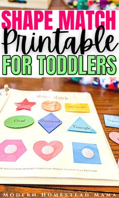 Shape Matching Worksheet for Toddlers