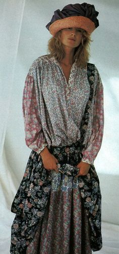 Liberty of London, Vogue Patterns, May/June 1986.