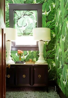 Designer Annie Downing uses bold pattern in this fun bathroom redo…